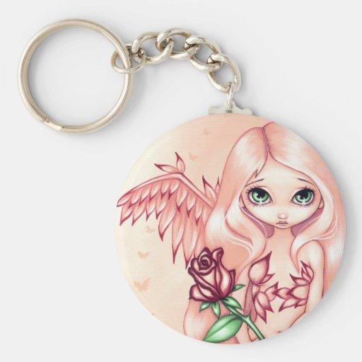 """Pale Rose"" Keychain"