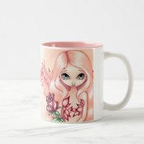 artsprojekt, art, fantasy, pale rose, rose fairy, angel, angels, angel wings, flower, flowers, floral, roses, rose, pink, peach, eye, eyes, big eye, big eyed, jasmine, becket-griffith, becket, griffith, jasmine becket-griffith, jasmin, strangeling, artist, goth, gothic, fairy, gothic fairy, faery, fairies, faerie, fairie, lowbrow, low brow, big eyes, strangling, Mug with custom graphic design