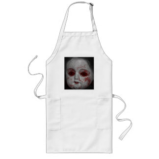 Pale Skin Doll With Blood Red Eyes Long Apron