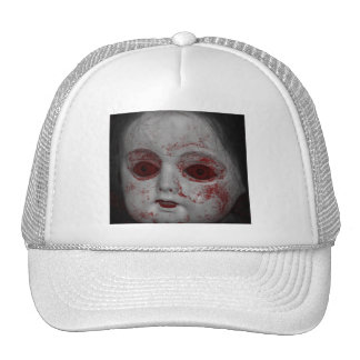 Pale Skin Doll With Blood Red Eyes Trucker Hat