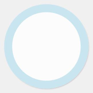 Pale sky blue border blank sticker