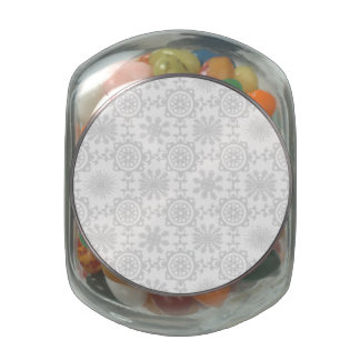 Pale Snowfill Glass Candy Jars