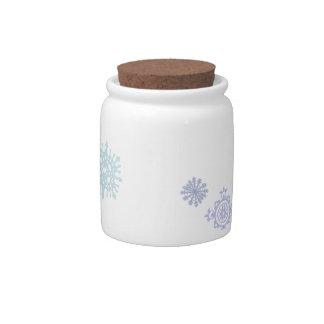 Pale Snowflakes Candy Jar