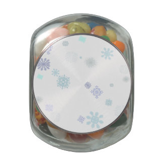 Pale Snowflakes Glass Jars