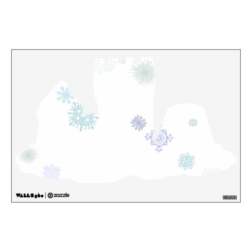 Pale Snowflakes Wall Decal