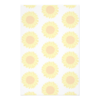 Pale Sunflower Background Pattern Personalized Flyer