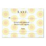 "Pale Sunflower Background Pattern. 3.5"" X 5"" Invitation Card"