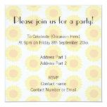 "Pale Sunflower Background Pattern. 5.25"" Square Invitation Card"