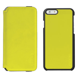PALE SUNFLOWER YELLOW (solid color) ~ iPhone 6/6s Wallet Case
