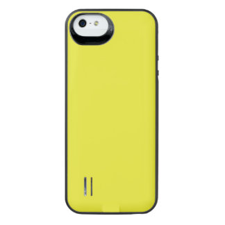 PALE SUNFLOWER YELLOW (solid color) ~ iPhone SE/5/5s Battery Case