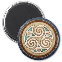 Pale Triskele Magnet