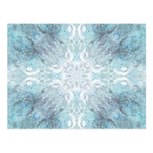 Pale Turquoise Pattern, with Some Soft Shapes. Postcard