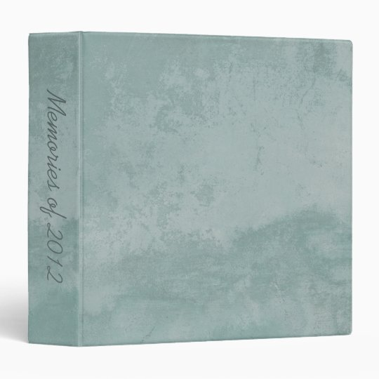 Pale Vintage Aqua Grunge Effect Old Italian Wall 3 Ring Binder