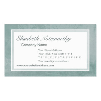 Pale Vintage Aqua Grunge Effect Old Italian Wall Double-Sided Standard Business Cards (Pack Of 100)