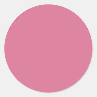 Pale Violet Red Classic Round Sticker