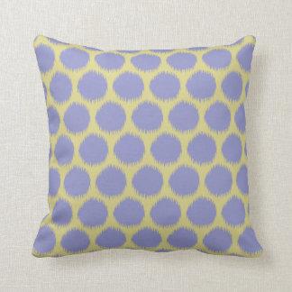 Pale Violet Resort Moods Ikat Dots Throw Pillow