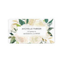 Pale Watercolor Floral Return Address Label
