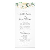 Pale Watercolor Floral Wedding Program
