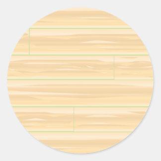 Pale Wood Background Classic Round Sticker