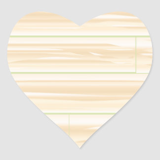 Pale Wood Background Heart Sticker
