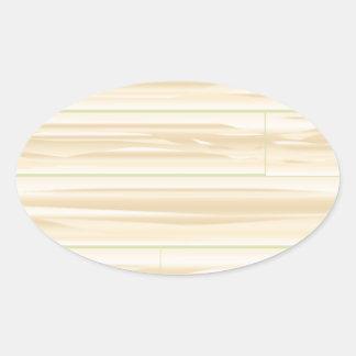 Pale Wood Background Oval Sticker