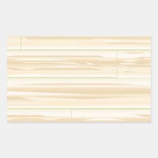 Pale Wood Background Rectangular Sticker