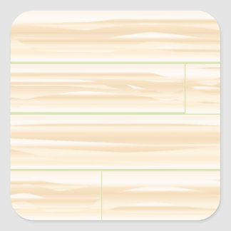 Pale Wood Background Square Sticker