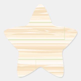Pale Wood Background Star Sticker