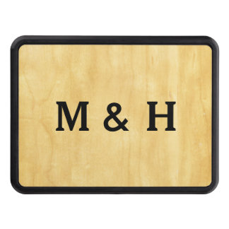 Pale Wood Tow Hitch Cover