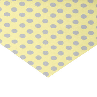 """Pale Yellow and Gray Polka Dots 10"""" X 15"""" Tissue Paper"""