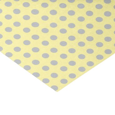 designsbydonnasiggy Pale Yellow and Gray Polka Dots Tissue Paper