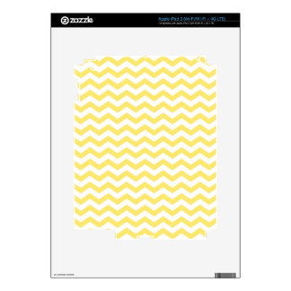 Pale Yellow and White Chevron Pattern iPad 3 Decal