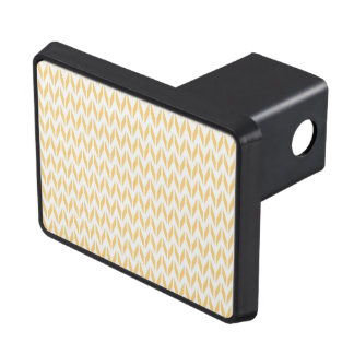 Pale Yellow and White Chevron Trailer Hitch Cover