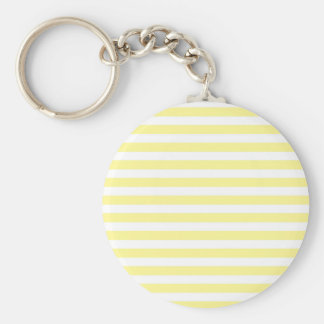 Pale Yellow and White Stripes Keychain