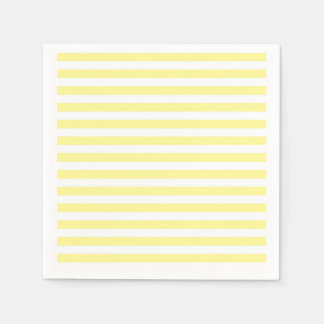 Pale Yellow and White Stripes Napkin