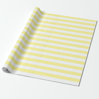 Pale Yellow and White Stripes Wrapping Paper
