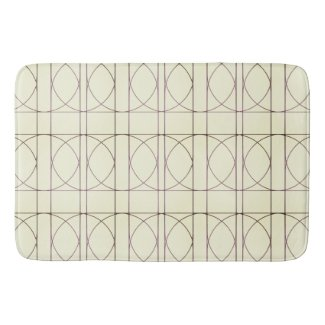 Pale Yellow/Beige Bathmat with Circles