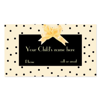 Pale Yellow Black Girl s Play Date Card Business Cards