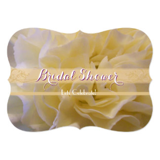 Pale Yellow Carnation Bridal Shower Card