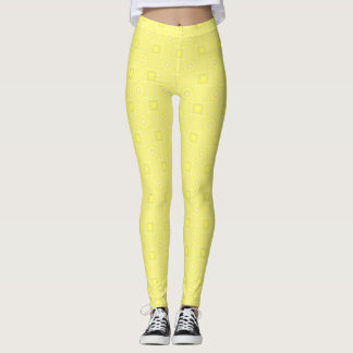 Pale Yellow Designer Leggings by Julie Everhart