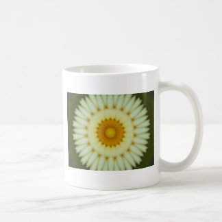 Pale yellow flower fractal design coffee mug