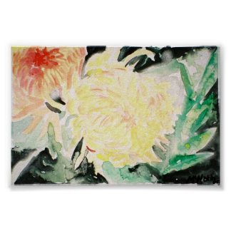 pale yellow flower print