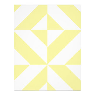 Pale Yellow Geometric Deco Cube Scrapbook Paper