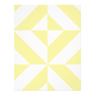 Pale Yellow Geometric Deco Cube Scrapbook Paper Letterhead