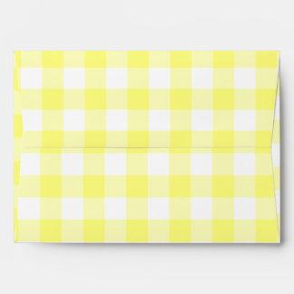 Pale Yellow Gingham Envelope