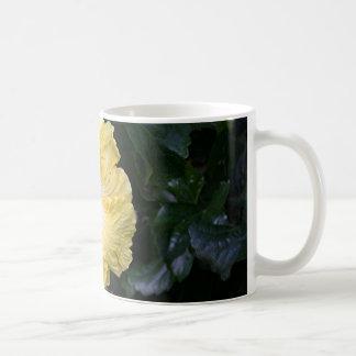 Pale yellow hibiscus flower coffee mug