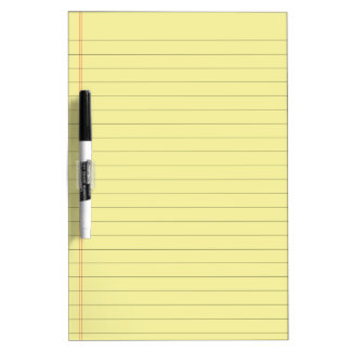 Pale Yellow Lined Dry-Erase Board
