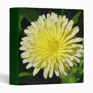 Pale Yellow Mary Bud Marigold With Garden Backgrou 3 Ring Binder