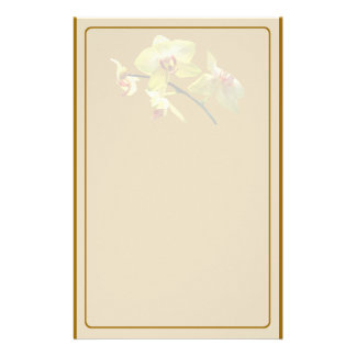 Pale Yellow Orchid Stationery