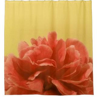 orange floral shower curtain. Pale Yellow Peach Floral Shower Curtain Curtains  Zazzle